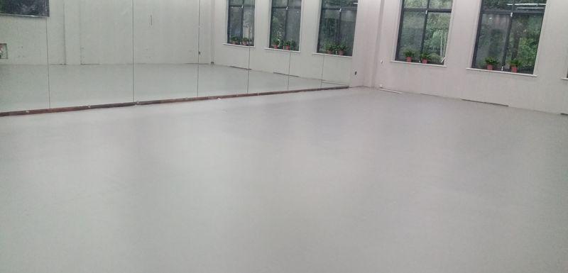 湖南湘潭爱尚舞艺术学校小丑地胶铺设案例