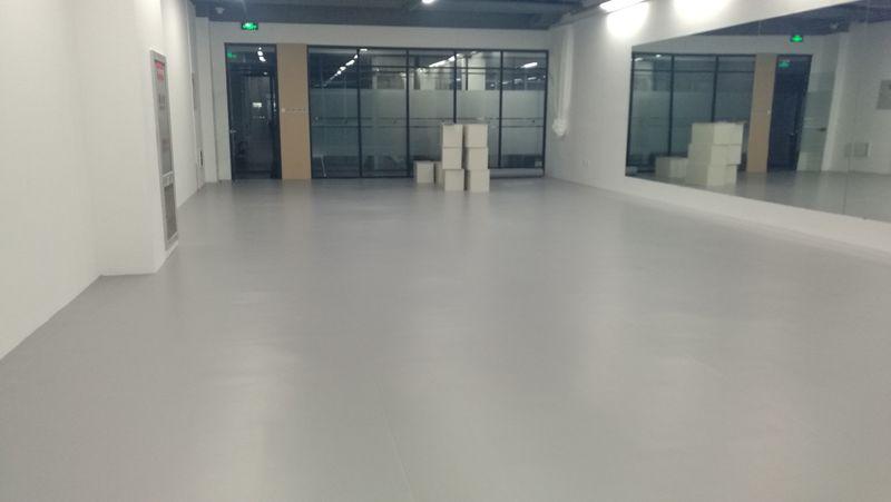 北京通州个人舞蹈室小丑地胶施工案例