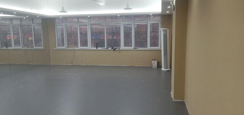 辽宁大连个人舞蹈室小丑地胶施工案例