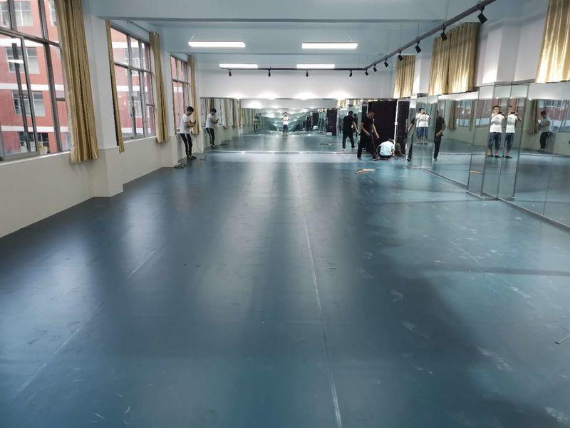 郑州城市职业学院舞蹈教室小丑地胶施工案例