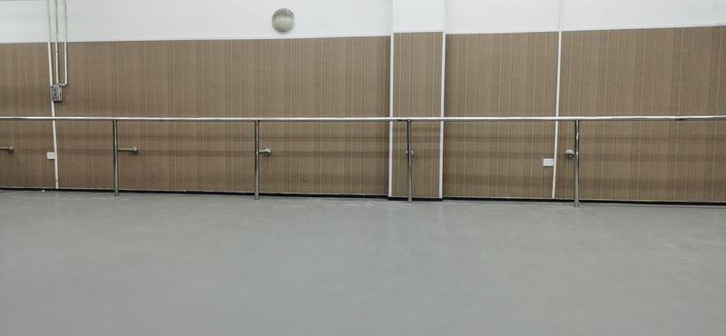 重庆高新区司晨青紫蓝舞蹈室小丑地胶铺设案例