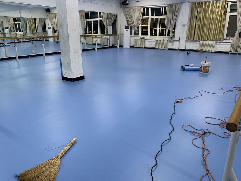 山东济南大学泉城学院舞蹈室小丑地胶安装案例
