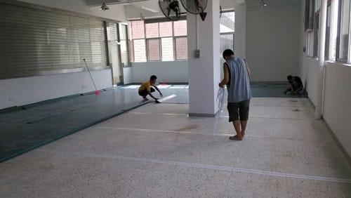 舞蹈地胶铺设案例